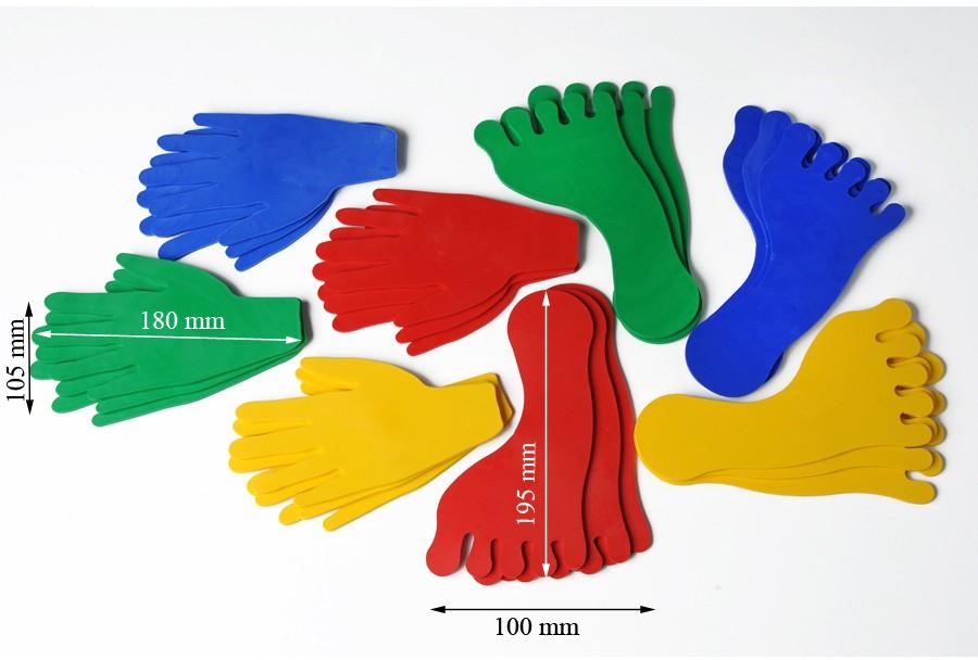 empreintes de pieds et de mains
